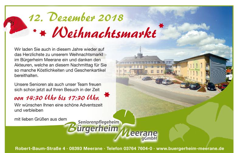 Anzeige-weihnachtsmarkt2018 in Das Haus